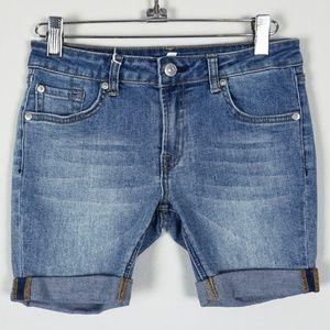 7 For All Mankind GIRLS Denim Cuffed Shorts